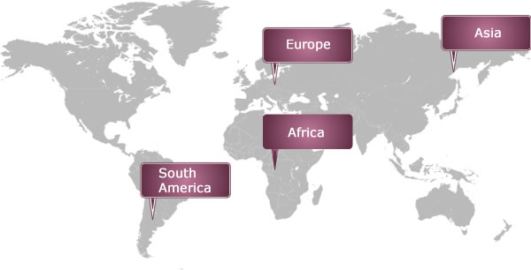 Faulkner International worldwide locations